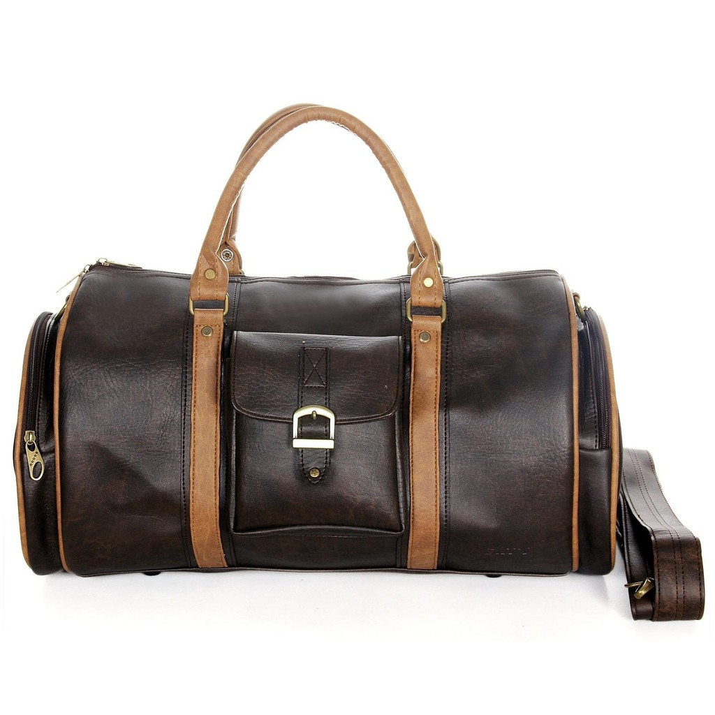 Túi du lịch CNT unisex TX20 nâu phong cách thời trang Châu Âu