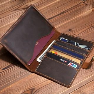Bao da đựng passport, ví đựng hộ chiếu da bò handmade - Zachi thumbnail