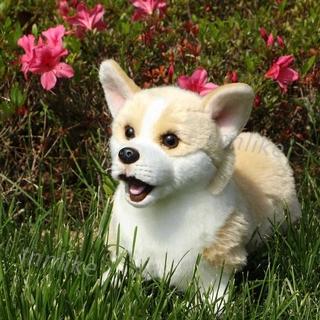 INN High-Quality Handmade Simulation Welsh Corgi Pembroke Dog Toy Doll Stuffed Plush