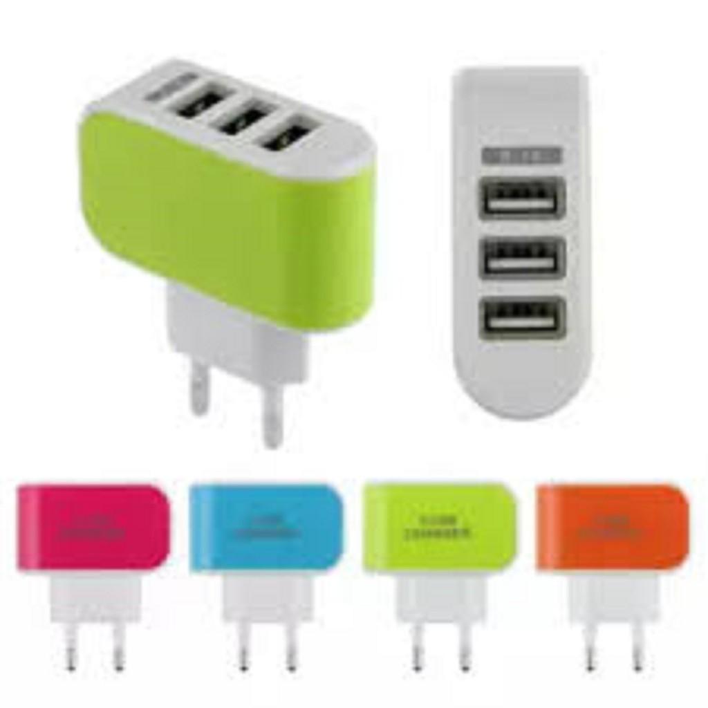 [Freeship 50k Toàn Quốc] CỐC SẠC USB 3 CỔNG