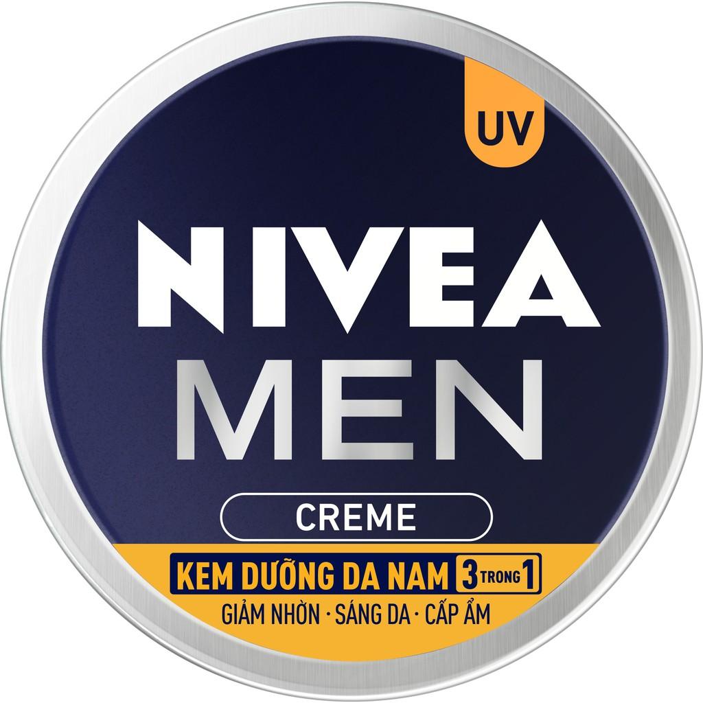 Kem dưỡng da nam NIVEA MEN Creme 3in1 giúp giảm nhờn, sáng da, cấp ẩm (30ml) - 83923