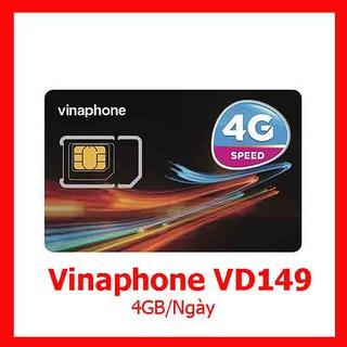 Sim 3G/4G Vinaphone VD149 tặng 4GB/ngày