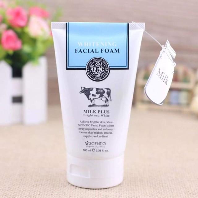 Sữa rửa mặt Beauty Buffet Scentio Milk Plus Whitening Facial Foam Q10 ♥ [menleather]