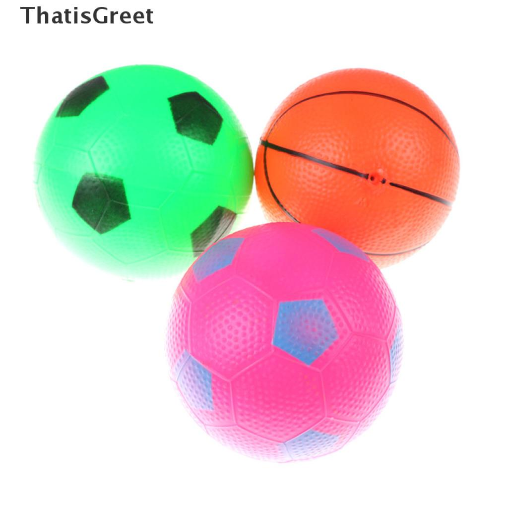 (thsgrt) 12cm Inflatable Basketball Football Blow Up Ball Kids Sports Outdoor Play Toy [HOT SALE]