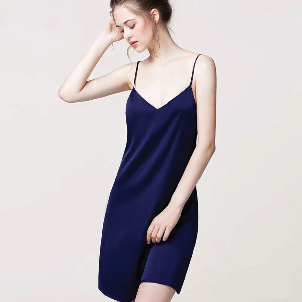 Mặc gì đẹp: Ngủ ngon hơn với Váy ngủ hai dây lụa Hàn Quốc LuLa Boutique, Đồ ngủ nữ mát đẹp thoải mái