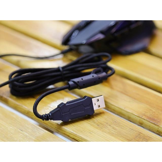 Chuột chơi game có dây EDra EM6502 Pro, cho máy tính, laptop, cảm Biến Quang Học Pixart, có led, chính hãng, có led