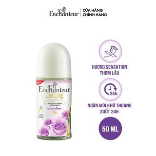 [HÀNG CHÍNH HÃNG LĂN KHỬ MÙI TRẮNG DA ]Lăn khử mùi trắng da Enchanteur Sensation dưỡng trắng vùng da dưới cánh tay 50ml