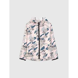 Áo khoác gió bé gái dài tay chống thấm nước có mũ CANIFA 1OT18W009 thumbnail