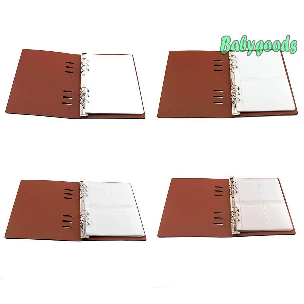 Cuốn sách đựng 10 tấm khuôn cắt trong suốt bìa da kích thước 17*23.2 cm trang trí album xinh xắn
