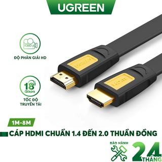 Dây HDMI chuẩn 1.4 đến 2.0 thuần đồng 19+1, độ dài từ 1-8m UGREEN HD101