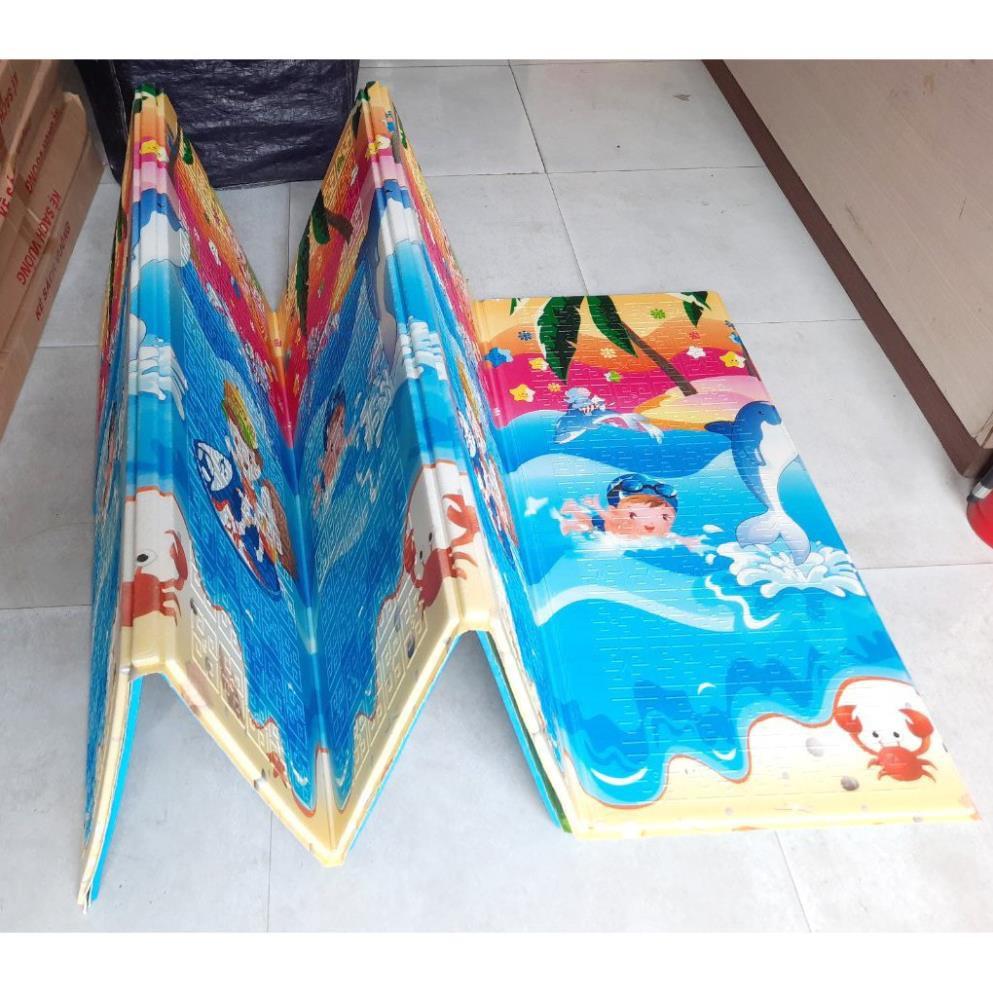 (GIAO MÃU NGẪU NHIÊN)Thảm xốp XPE 2 mặt 1m8-2m 6ly chống nóng, chống trơn trượt cho bé