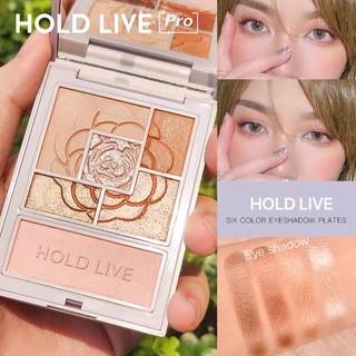 Bảng phấn mắt 6 màu HOLD LIVE kèm phấn má highlight Favorite Silk Satin Eyeshadow tông cam đào hồng đất HL399 HLIV68 thumbnail