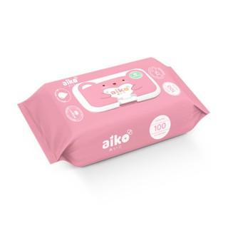 Combo 3 bịch khăn ướt kháng khuẩn không mùi Aiko (100 tờ)