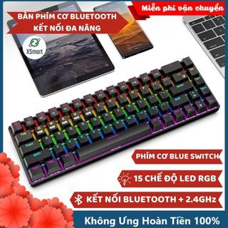 Bàn Phím Cơ Bluetooth Không Dây Có Đèn LED Nhiều Chế Độ X650 GTR PRO Pin Sạc Kết Nối Điện Thoại Máy Tính Laptop PC thumbnail