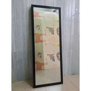 Gương soi toàn thân decor kích thước 40 x 110 cm Khung nhôm cao cấp màu Đen