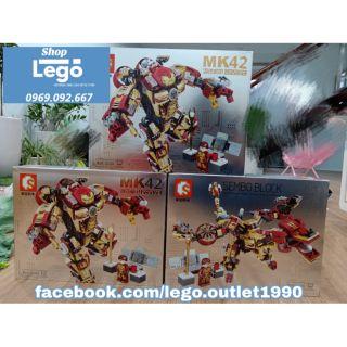 Lego xếp hình Ironman Sembo Block MK42