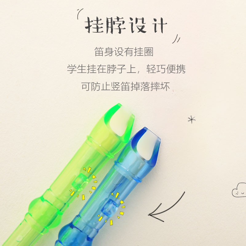 Full order250000 DongCandy color transparent flute creative 6 hole children mini clarinet baby instrument playing gift h