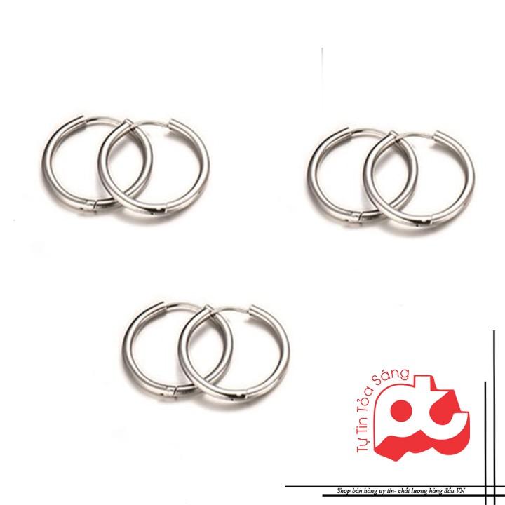 [1 cặp]Bông tai inox thời trang kiểu SƠN TÙNG (3 màu) Bông Tai/Khuyên Tai