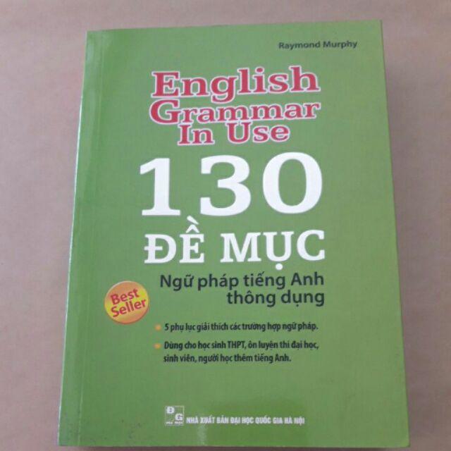 130 đề mục ngữ pháp tiếng anh