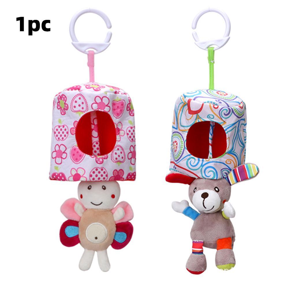 Car Hanging Washable Plush Peekaboo Infant Vibration Animal Practical Pull Shock Pendant