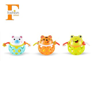 0-12 Months Baby Rattles Toy Guns Plastic Animal Music Hand Shake Toy