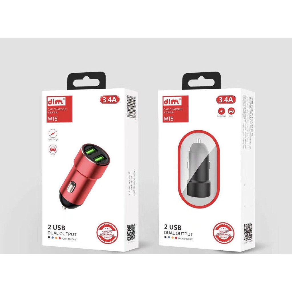 Tẩu Sạc Nhanh Ô Tô 2 Cổng USB Chính Hãng Giá Rẻ DUAL OUTPUT CAR CHARGER