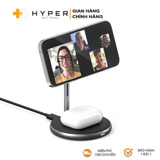 Bộ sạc không dây HyperJuice Magnetic 2in1 Wireless Charging Stand iPhone 12 Series & AirPods (HJ461) - Chính Hãng