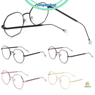 ❀SIMPLE❀ Fashion Computer Gaming Glasses Ultralight Eyeglasses Blue Light Blocking Eyewear Vision Care Unisex Retro Radiation Protection Metal Frame/Multicolor