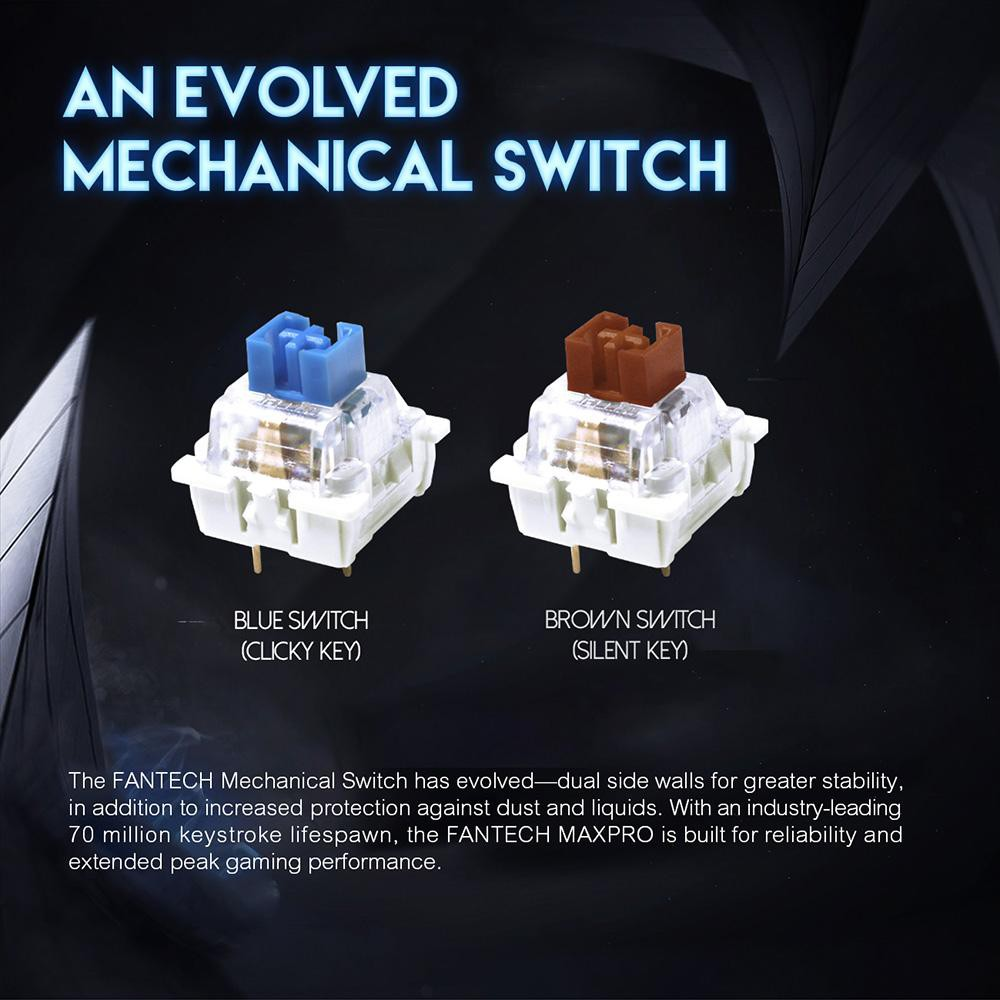 Bàn phím cơ Gaming cho game thủ Fantech MK851 MAXPRO (Blue/Brown Switch) - Hãng phân phối chính thức