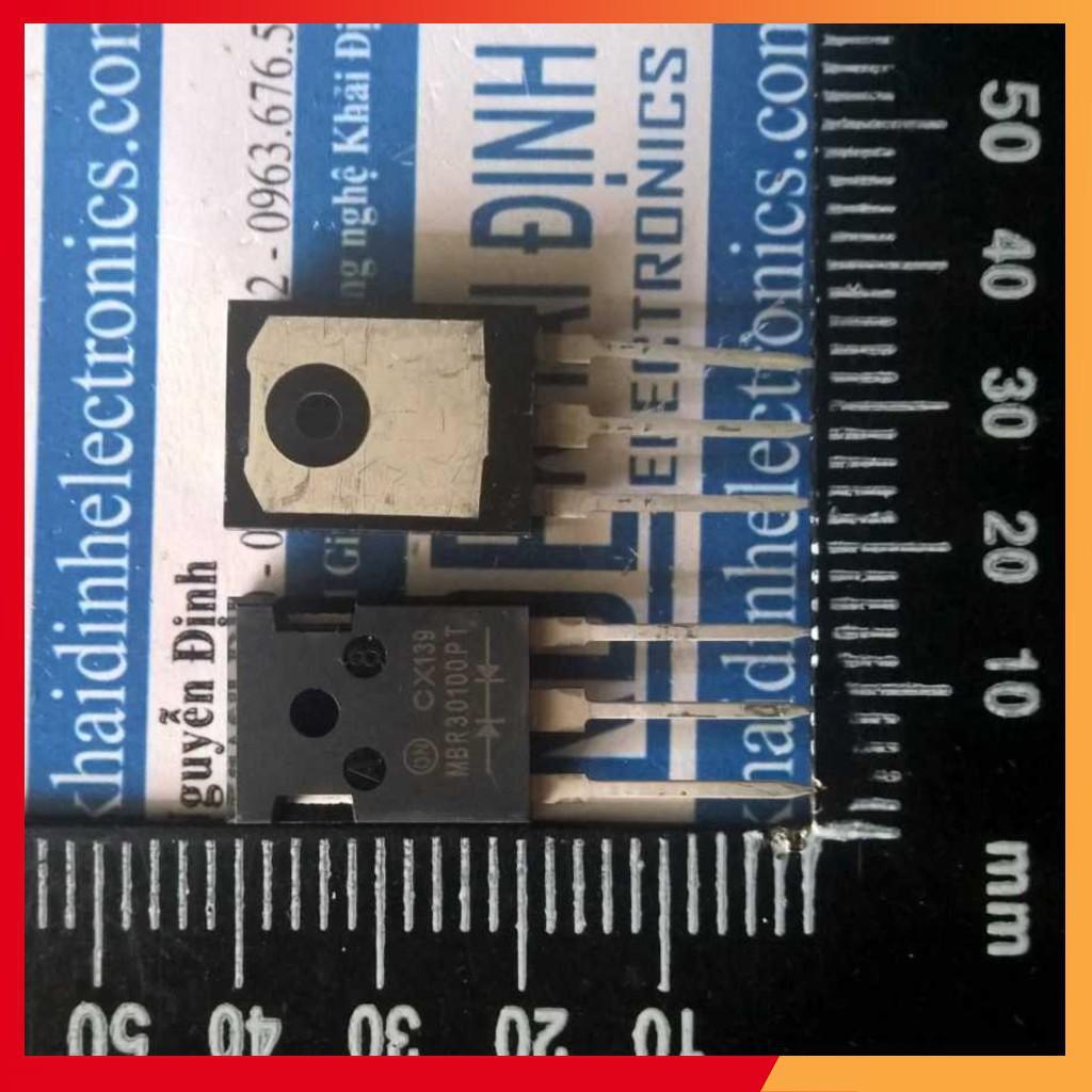 (GIÁ SỈ) 2 con MBR30100PT 30100 30A, 100V TO-3P DIODE XUNG ĐÔI KDE1318