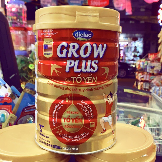Sữa bột Dielac Grow Plus có Tổ Yến lon 850g