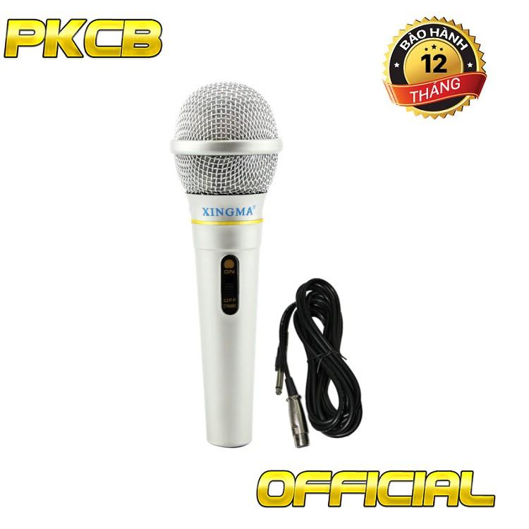 micro có dây nào tốt nhất hiện nay micro Karaoke có dây chống hú gia đình 3.5 M Bạc PF11