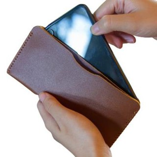 [DA BÒ THẬT] Ví Nam Đựng Điện Thoại Kiểu Đứng Cao Cấp Thời Trang Da Bò Đựng Tiền Và Đựng Thẻ Ti
