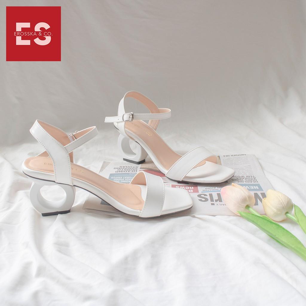 Giày cao gót nữ Erosska cao 5cm thời trang thiết kế phối màu sang trọng EB009 (màu đen)
