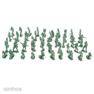 100 Pieces 2cm Plastic Toy Soldier Figurs Army Men Accessories Army Green