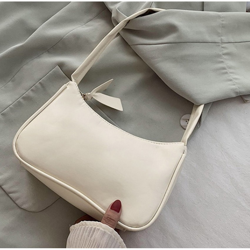 Túi đeo vai nữ, kẹp nách da mềm trơn siêu xinh GT 433