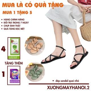 (QÙA TẶNG LÀ SỮA TẮM) dép sandal nữ đi họcdép đế bằng, quai nhỏ, đi êm, dễ di chuyển, giá rẻ, XUONGMAYHANOI.2