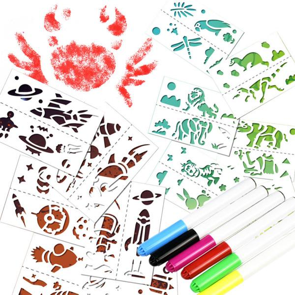 Children Funny Spray Painting Pen Set Eco-friendly Stationery Toy