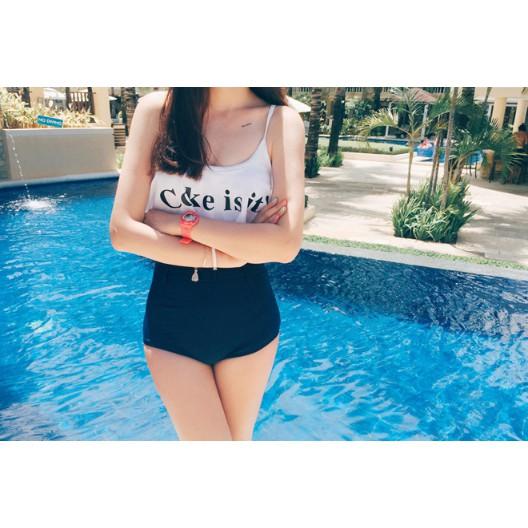 CocaBikini đồ bơi hai mảnh sọc đen trắng chất thun lạnh mặc đi biển