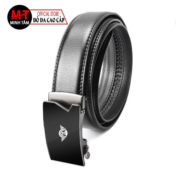 Thắt lưng nam Minh Tâm da cao cấp , khóa kim loại tự động thời trang nam MT-15 , đen hoặc nâu