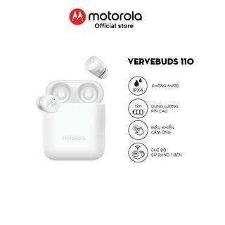 Tai nghe bluetooth Motorola không dây - VerveBuds110- Hỗ trợ đàm thoại thông minh chuẩn chống nước IPX4