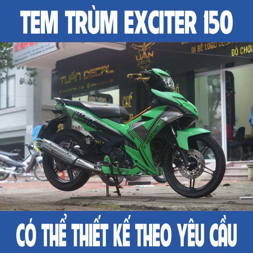 Tem trùm Exciter 150 Green Square Đẹp - Đổi màu theo yêu cầu