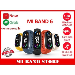 ( Chính hãng ) Vòng đeo tay Mi Band 6 / Miband 6 chính hãng ( giao 2h Grab, Nowship )