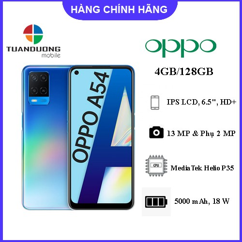 Điện thoại OPPO A54 4GB/128GB - Hàng Chính Hãng - Bảo Hành Toàn