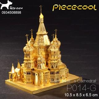 Đồ chơi lắp ghép mô hình 3D bằng thép Tòa thánh Basil Piececool