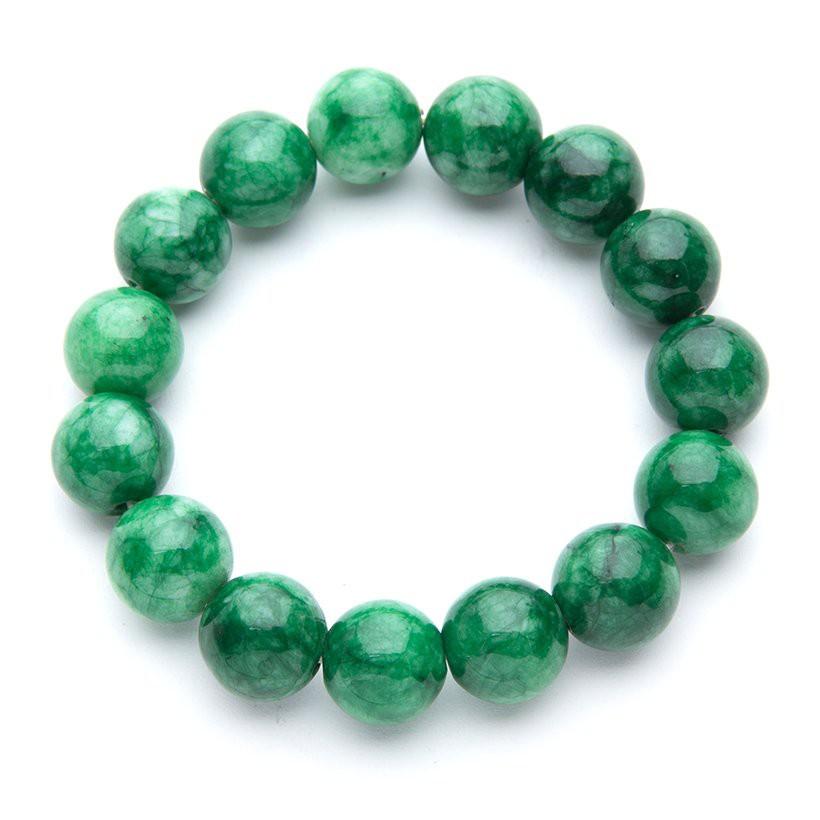 Vòng tay phong thủy đá xanh có vân tài lộc may mắn Vòng Tay/Lắc Tay