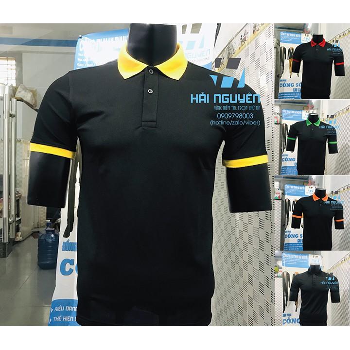 Áo thun cá sấu Thái co giãn 4 chiều làm đồng phục cho nhân viên