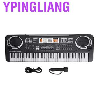Ypingliang Children portable electronic keyboard 61 keys musical instrument with microphone teachin