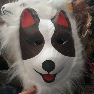 Mặt nạ hóa trang mặt nạ chó mặt nạ chó sói chất liệu xốp ép