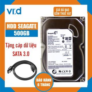 Ổ cứng HDD 500GB Seagate - Tặng cáp SATA 3.0 - Hàng tháo máy đồng bộ nhập khẩu mới 98% - Bảo hành 6T